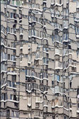Block of flats reflected in the mirror windows — Stock Photo