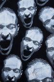 Wry faces grafitti — Stock Photo
