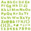 Complete Eco Green Alphabet — Stock Photo