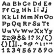 Black Blot Alphabet Handwritten — Stockfoto