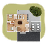 House plan top view — Stock Photo