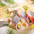 Herring salad with apple and potato — Foto de Stock