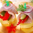 Herring appetizer for christmas — Stock Photo #12913726