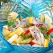 Herring salad with apple and potato — Stock Photo #12914148