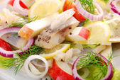 Herring salad with apple — Stock Photo