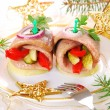 Herring appetizer for christmas — Stock Photo #13253744