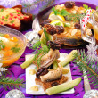 Постер, плакат: Herring appetizer on christmas eve`s table