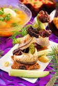 Herring appetizer for christmas — Stock Photo