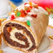 poppy seed roulade for christmas — Stock Photo