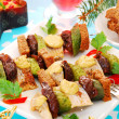 Herring skewers for christmas — Stock Photo #13294797