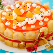 Orange jelly and whipped cream torte — Stock Photo #14328937