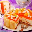 Orange jelly and whipped cream torte — Stock Photo #14328949