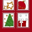 Christmas greeting card design — Stok fotoğraf