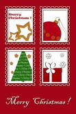 Christmas greeting card design — Stock Photo