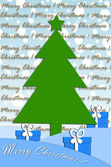 Festive card design with christmas tree — Stok fotoğraf
