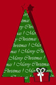 Festive card design with christmas tree and gift — Stock Photo