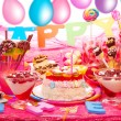 Stock Photo: Birthday party for children