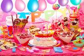 Birthday party for children — Stock Photo