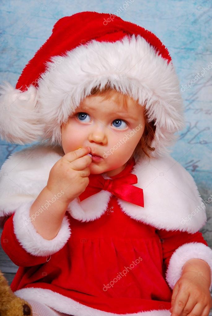 cute baby in santa hat stock photo 169 teresaterra 17139271