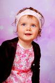 Adorable blue eyes baby girl — Stock Photo