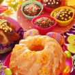 Yeast ring cake for easter — Stock Photo