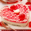 Jelly cake in heart shape for valentines — Stock Photo #18460769