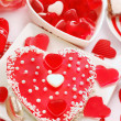 Jelly cake in heart shape for valentines — Stock Photo #18460783