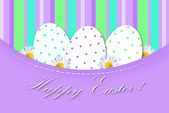 Easter card with eggs in dots — Stock Photo