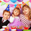 Stock Photo: Children on birthday party
