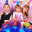 Children on birthday party — Stock Photo