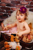 Portrait of adorable baby girl — Stock Photo