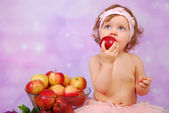 I love apples — Stock Photo