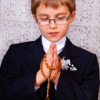 Boy going to the first holy communion — Stock Photo #21418453