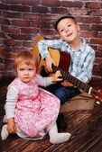 The little music lovers — Stock Photo