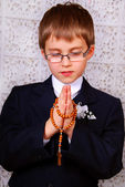 Boy going to the first holy communion — Stock Photo