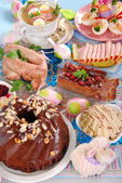Traditional polish easter dishes — Stock Photo