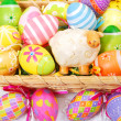 Decoration with easter painted eggs — Stock Photo #21774579