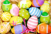 Background with easter painted eggs — Stock Photo