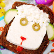 Easter sandwich with sheep head for child — Stock Photo #21924739