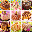 Easter ring cakes collection — Stock Photo