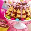 Marble ring cake for easter — Stock Photo #22258457