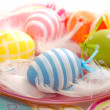 Royalty-Free Stock Photo: Colorful easter eggs on the plate