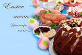 Traditional easter food — Stock Photo