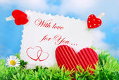 Love card with text — Stock Photo