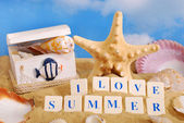 I love summer — Stock Photo