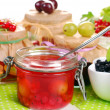 Homemade summer fruit preserves — Stock Photo