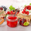Homemade summer fruit preserves — Stock Photo #29851193