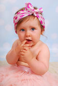 Beautiful baby girl ,10 months — Stock Photo