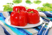 Baked red peppers — Stock Photo
