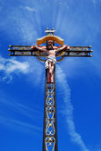 Beautiful cross with jesus christ — Stock Photo